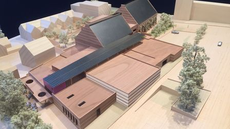 A model of The Hold that is due to open at the end of next year. Picture: SUFFOLK COUNTY COUNCIL