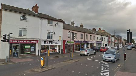 The fire was started in Barrack Street, Colchester. Picture: GOOGLE MAPS