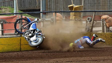 Another bad crash at speedway, where the faster bikes are still on tracks made 40 years or more ago.