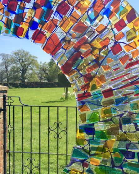 A beautiful glass garden sculpture on show at Glemham Hall. Picture: SUE FOSTER