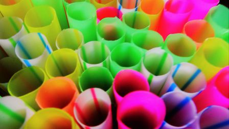 Multi-coloured drinking straws. Picture: JULIE KEMP