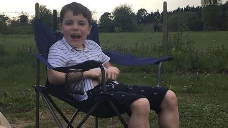 Jenny Marchant's sons Alfred, 10, and Arthur, eight, have Duchenne muscular dystrophy. Picture: MYBU
