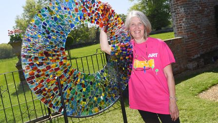 Art for Cure event at Glenham Hall. Pictured is Arabella Marshall. Picture: GREGG BROWN