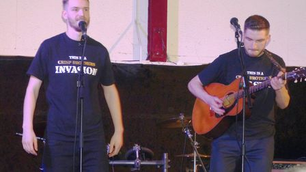 The Crisp Brothers at the Dennington Concert. Picture: PETER ARCHARD