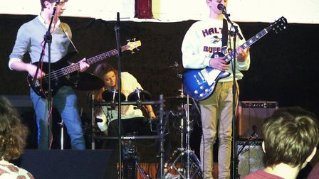 Oscar Welsh, Marty Gionis and Abbi Liverton at the Dennington Concert. Picture: PETER ARCHARD