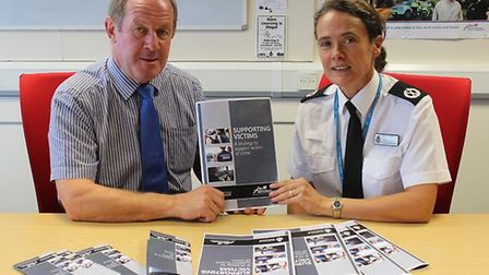 Suffolk police and crime commissioner Tim Passmore and assistant chief constable Rachel Kearton laun