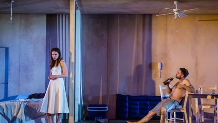 Kelly Gough & Patrick Knowles in A Streetcar Named Desire at the New Wolsey Theatre, Ipswich. Phot