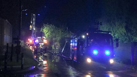 Five engines were called to the fire on Paper Mill Lane. Picture: SUFFOLK FIRE AND RESCUE
