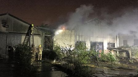 Firefighters were called to another fire at the former Fisons plant. Picture: SUFFOLK FIRE AND RESCU