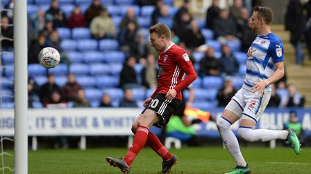 Freddie Sears nods the ball over the line for his goal at Reading Picture Pagepix