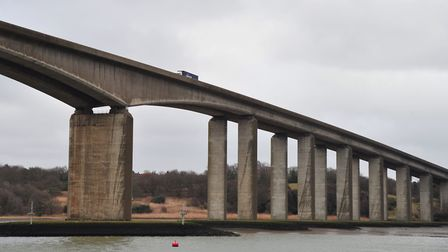 The Orwell Bridge reopened early after Monday's storm. Picture: SARAH LUCY BROWN