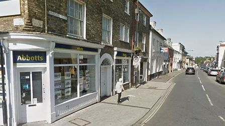 The incident happened in Risbygate Street, Bury St Edmunds. Picture: GOOGLE MAPS