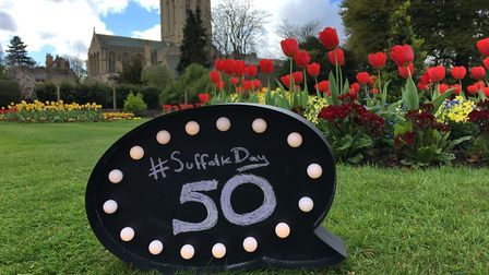 There are just 50 days to go until Suffolk Day 2018. Pictured are the Abbey Gardens in Bury St Edmun