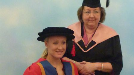 Elena Baltacha was honoured by the University of Suffolk in 2012. Picture: NINO SEVERINO