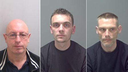 (L-R) Leslie Muffett, Jamie Phillips and Michael Harvey. Pictures: NATIONAL CRIME AGENCY/SUFFOLK CON