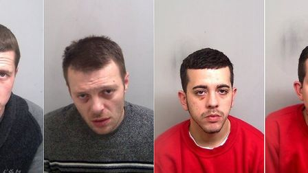 George Robinson (left), Jimmy Stevens, David Speed and Alan Speed. Picture: ESSEX POLICE