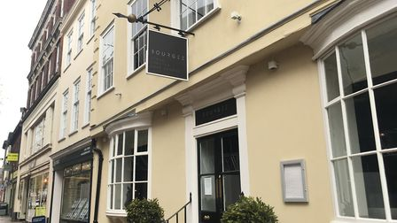 Bourgee restaurant in Bury St Edmunds, which has closed. Picture: MICHAEL STEWARD
