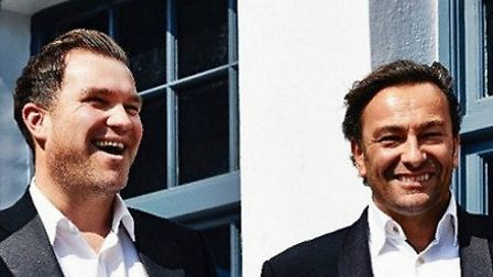 Left to right: James Welling and Mark Baumann, founding directors of Bourgee restaurants.