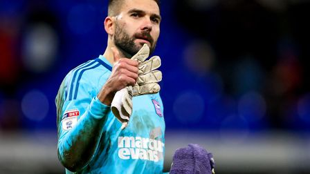 Bartosz Bialkowski has been named Ipswich Town's Supporters' Player of the Year three times in a row