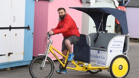 Ian Lightfoot is pleased with the new plans to bring rickshaw licensing to east Suffolk. Picture: GR