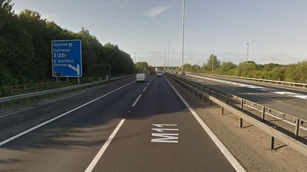 The crash happened close to the junction 8 of the M11. Picture: GOOGLEMAPS