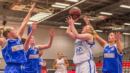 Ipswich's Harriet Welham scored 33 points in the play-off final. Picture: PAVEL KRICKA