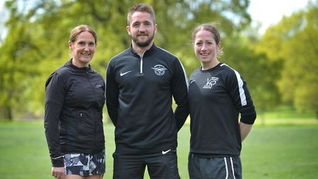 Vicki French, Luke Read and Kat Parnell organised the run in memory of Matt Campbell, who collapsed