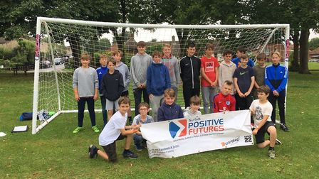The weekly football project in Haverhill is one of Catch 22, Suffolk Positive Futures' open access s