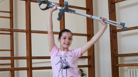13-year-old Emily Orchard has been selected to perform with the English Youth Ballet company. Pictur
