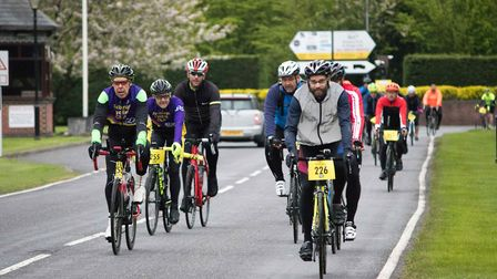 Nearly 400 cyclists gathered for the event on Sunday. Picture: GEORGE WEBSTER/EHAAT
