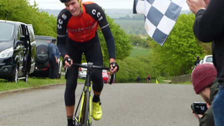 Gary Munro (CC Sudbury) takes second in the CC London Road Race. Picture: FERGUS MUIR