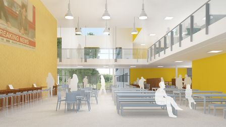 A view of the college dining hall. Picture: SUFFOLK ACADEMIES TRUST