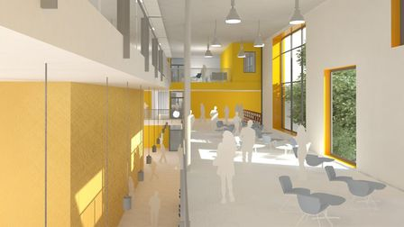A view of the balcony inside the building. Picture: SUFFOLK ACADEMIES TRUST