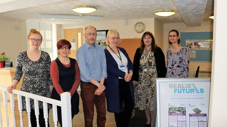 Realise Futures has a new home for its adult learning centre in Stowmarket. Staff members, from l