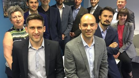 James Potter (front left) and Mark Hayward (front right) with the Superstructures team at the firm's