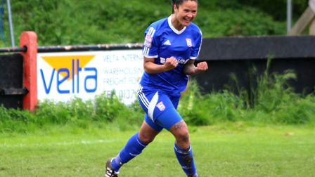 Natasha Thomas has now scored 27 goals in all competitions this season. Picture: ROSS HALLS
