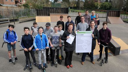 The launch of the previous consultation over the relocation of Sudbury BMX park in 2016 Picture: PH
