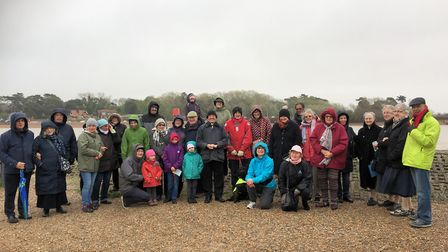People at Felixstowe taking part in the Rosary on the Coast initiative. Picture: JULIAN WONG