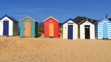 Beach huts at Southwold. Picture: MARK STAPLES