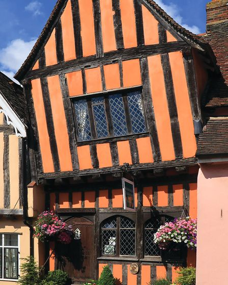 The crooked house in Lavenham. Picture: MARK STAPLES