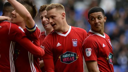 Luke Woolfenden made his league debut for Ipswich Town in Saturday's 4-0 win at Reading. Photo: Page