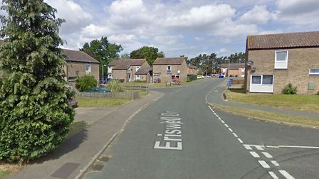 Cars were vandalised in Eriswell Drive in Lakenheath. Picture: GOOGLEMAPS