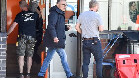 Danny Boyle has been spotted filming at Booker Cash and Carry in Lowestoft. Picture: NICK BUTCHER