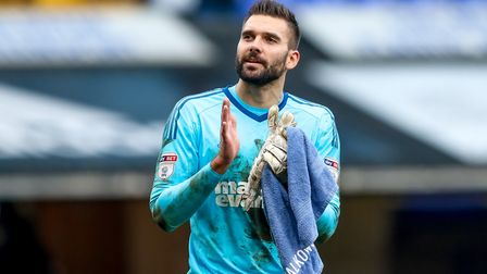 Bartosz Bialkowski was a double winner at Town's end of season awards. Picture: STEVE WALLER