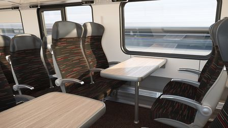 The seats for the Intercity and regional trains for Greater Anglia being built by Stadler. Picture: