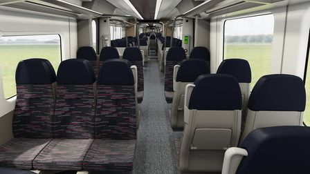 The seats for the Bombardier Aventra suburban trains. Picture: GREATER ANGLIA