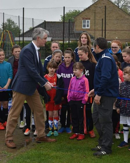 MP James Cartlidge cut the ribbon to officially open the Wilcats Centre in Capel St Mary on Saturday