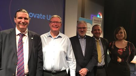 Innovate UK even in the East of England at Adastral Park, Suffolk. From L-R, they are Howard Partr