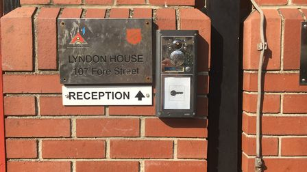 The entrance to Lyndon House Lifehouse, run by The Salvation Army. Picture: AMY GIBBONS