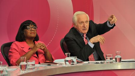 Diane Abott and David Dimbleby. Picture: SARAH LUCY BROWN